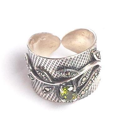 Inel argint 925 cu zirconii si marcasite 1
