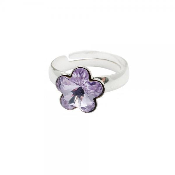 Inel argint 925 floare cu swarovski elements 0