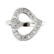 Inel argint 925 rodiat cu 2 inimioare si zirconii 1