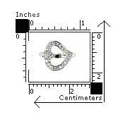 Inel argint 925 rodiat cu 2 inimioare si zirconii 2