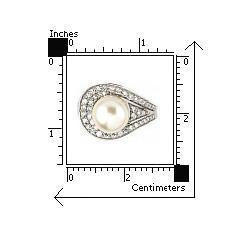Inel argint 925 rodiat cu perla de cultura si zirconii 2