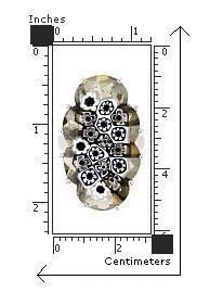 Inel argint 925 rodiat cu sticla de murano 2