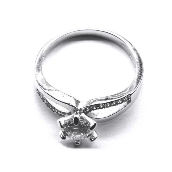 Inel argint 925 rodiat cu zirconii 0