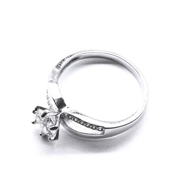 Inel argint 925 rodiat cu zirconii 1