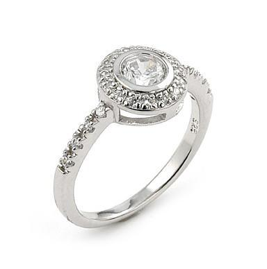 Inel argint 925 rodiat cu zirconii albe 0