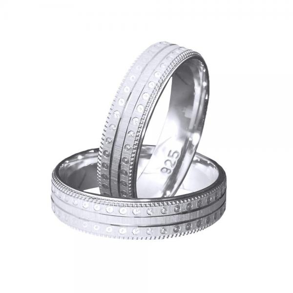 Inel argint 925 rodiat model verigheta toate marimile 0