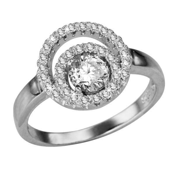 Inel elegant argint 925 cu zirconii 0