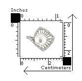 Inel elegant argint 925 rodiat cu perla si zirconii 2