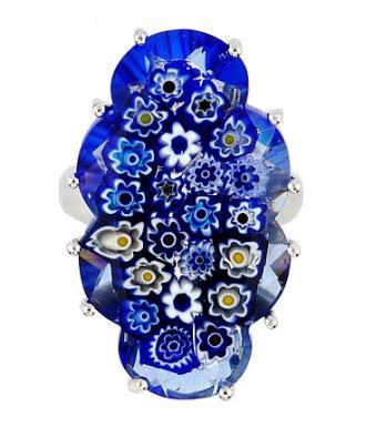 Inel elegant din argint 925 cu sticla de murano 1