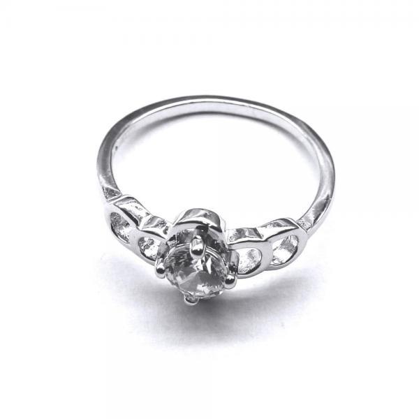 Inel elegant din argint 925 rodiat cu zirconii 0
