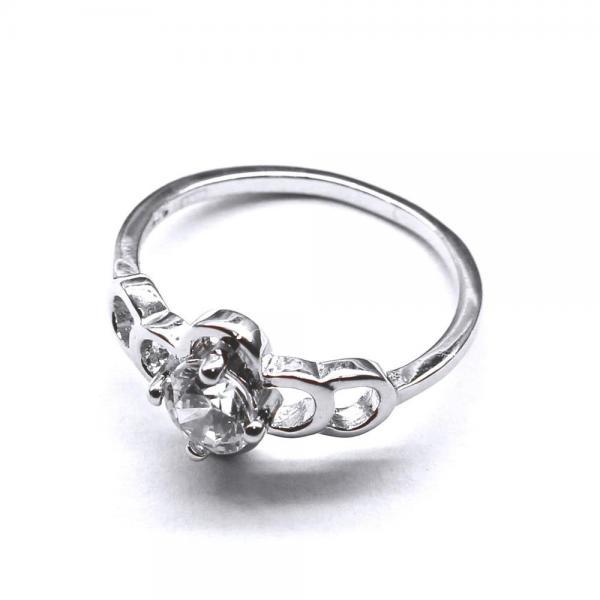 Inel elegant din argint 925 rodiat cu zirconii 1