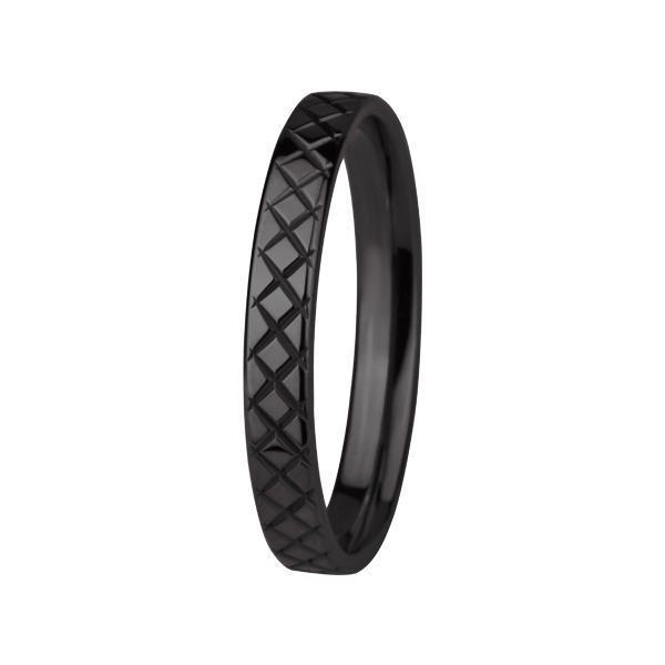 Inel negru din otel inox model verigheta [0]