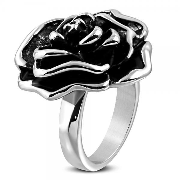 Inel otel inox in forma de trandafir 0