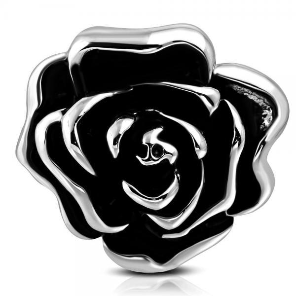 Inel otel inox in forma de trandafir 1