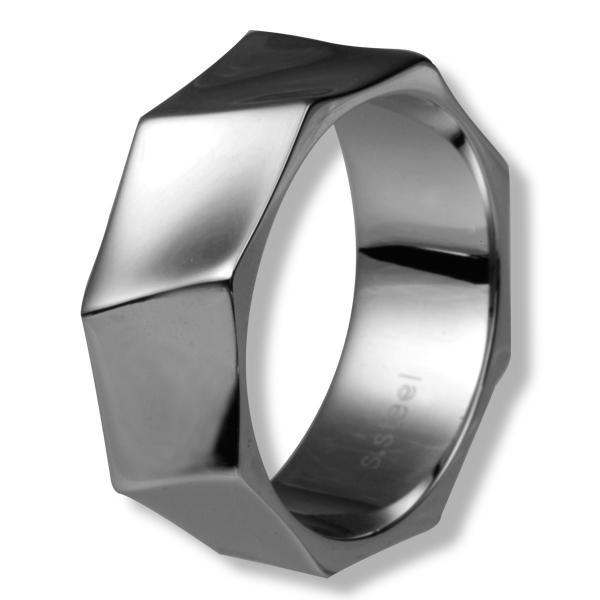 Inel otel inox model octogonal [0]
