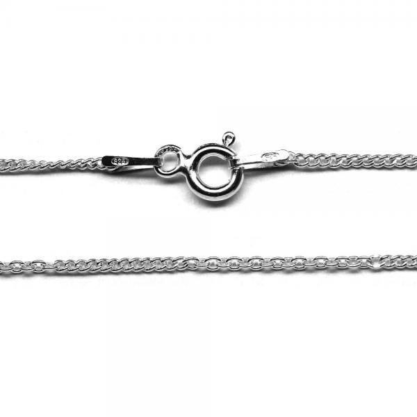 Lant argint 925 45 cm cu doua modele de zale ovale 1