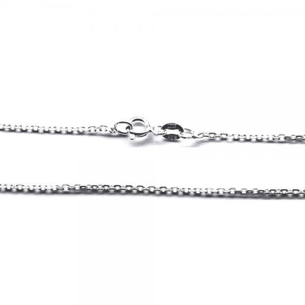 Lant argint 925 cu zale ovale 40 cm 1