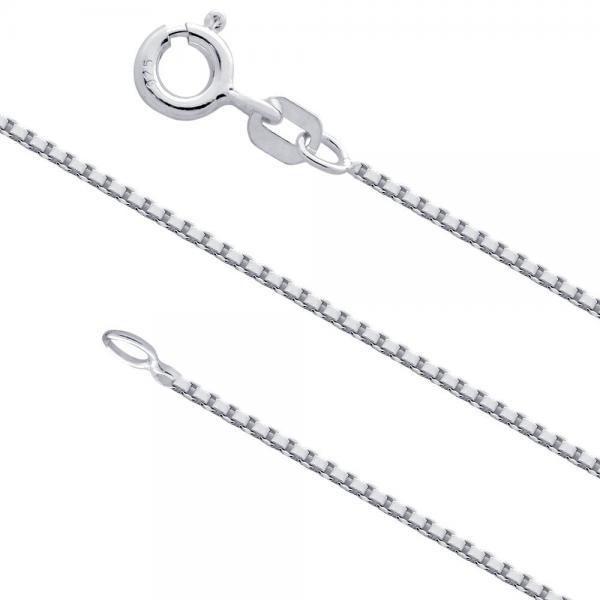 Lant argint 925 placat cu rodiu 75 cm si 1 mm grosime LSX0096 0