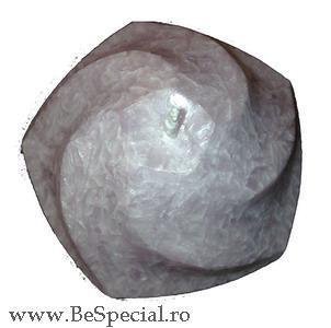 Lumanare naturala pentagon spiralat model marmorat 0