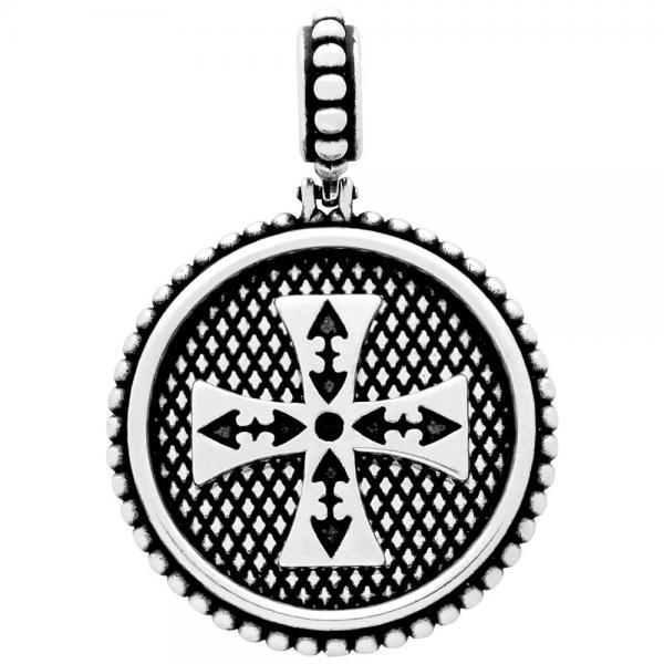 Medalion argint 925 cu cruce malteza PSX0436 1