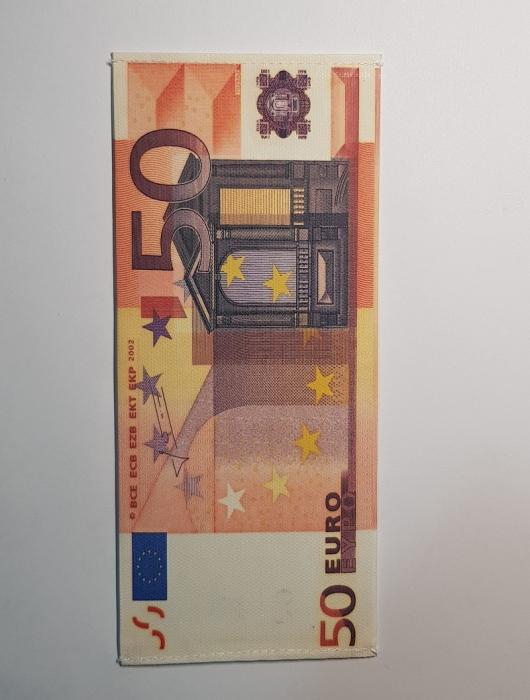 Portbancnota piele ecologica 50 EURO  PBA08 Multicolor 0