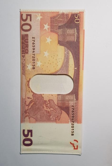 Portbancnota piele ecologica 50 EURO  PBA08 Multicolor 3