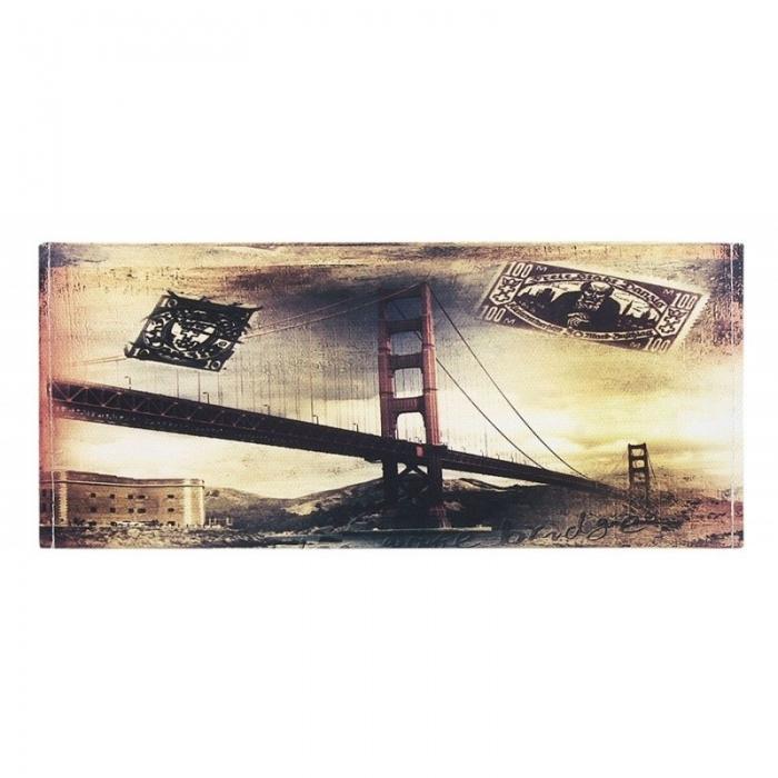 Portbancnota piele ecologica Golden Gate Bridge - SAN FRANCISCO  PBA10 Multicolor 0