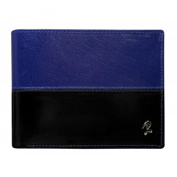 Portofel barbati din piele naturala cu protectie RFID Rovicky PORM619 Albastru 0