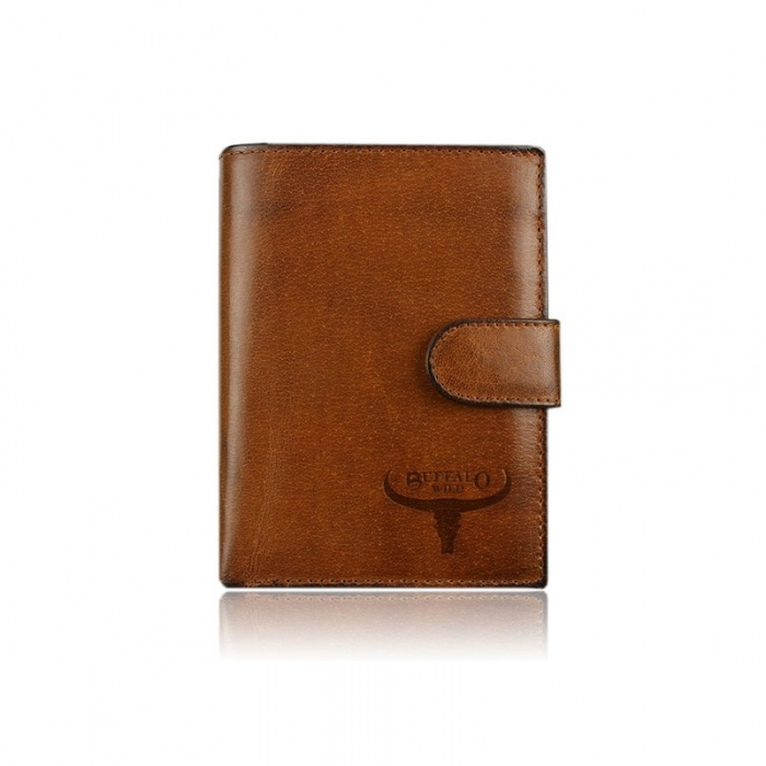Set cadou barbati (portofel + curea) din piele naturala Wild BuffalOPORM636 2
