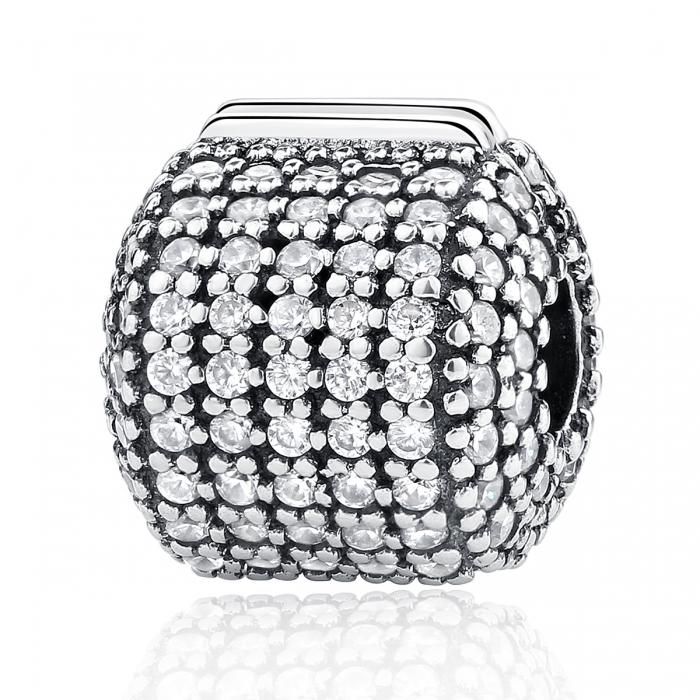 Charm argint 925 cu zirconii albe - Be Elegant PST0042 0