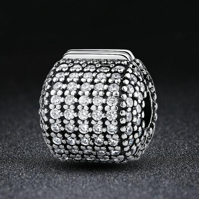 Charm argint 925 cu zirconii albe - Be Elegant PST0042 1