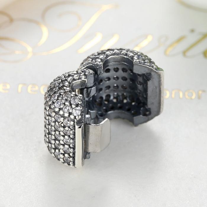 Charm argint 925 cu zirconii albe - Be Elegant PST0042 3