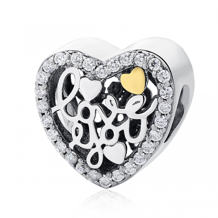 Charm argint 925 inimioara I LOVE YOU - Be in Love PST0048 0