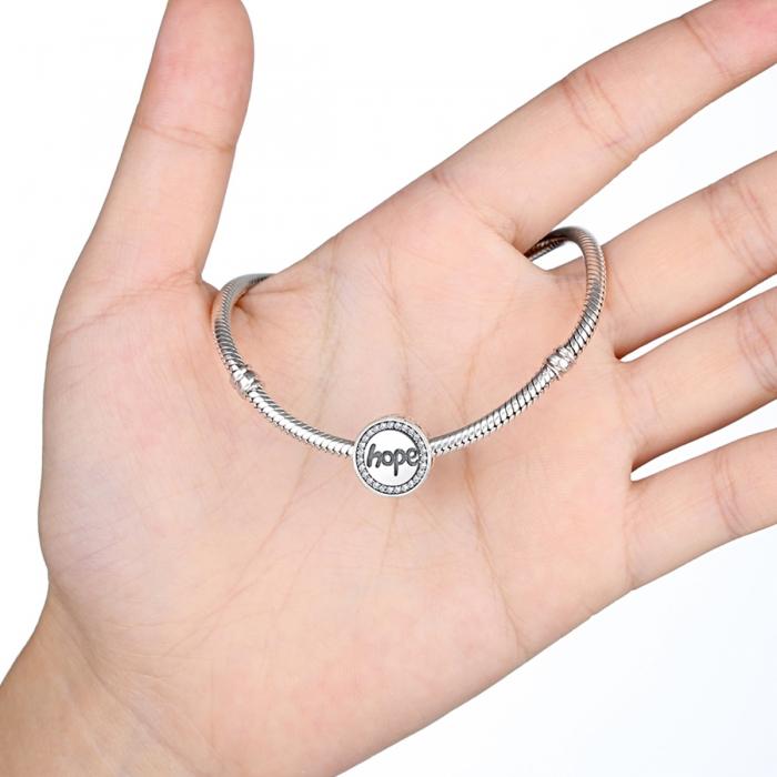 Charm argint 925 Hope-Speranta cu zirconii albe - Be Elegant PST0057 3