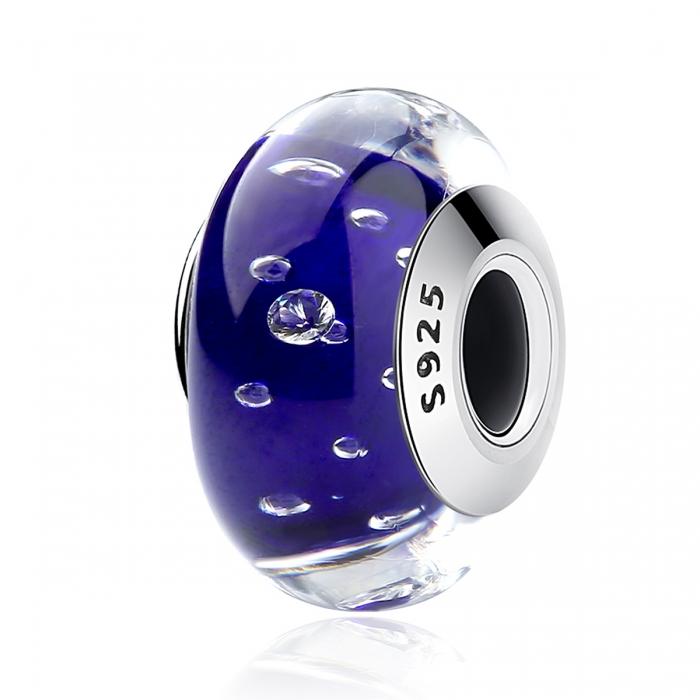Charm argint 925 cu sticla albastra - Be Elegant PST0069 0