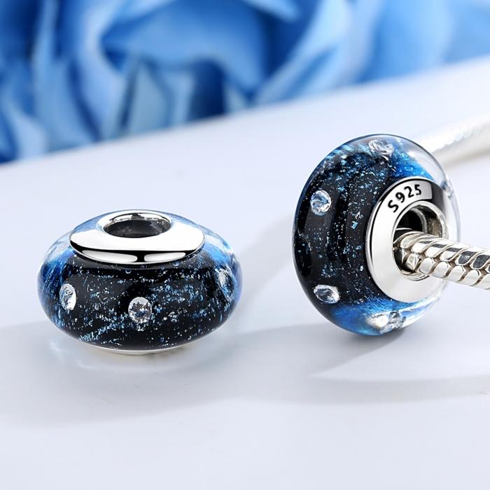 Charm argint 925 cu sticla albastra - Be Elegant PST0071 1