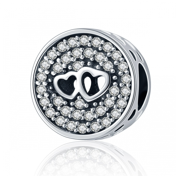 Charm argint 925 cu doua inimioare - Be in Love PST0106 0
