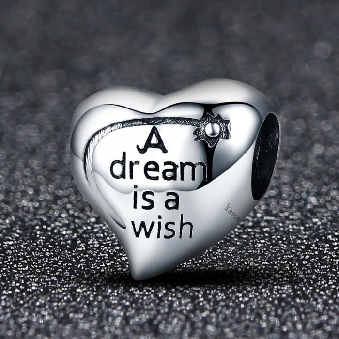 Charm argint 925 inimioara A Dream is a Wish - Be in Love PST0108 1