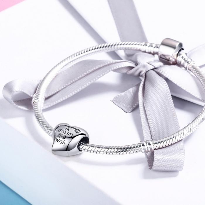 Charm argint 925 inimioara A Dream is a Wish - Be in Love PST0108 2