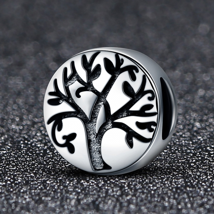 Pandantiv argint 925 cu copacul vietii cu aspect vintage - Be Nature  PST0109 1
