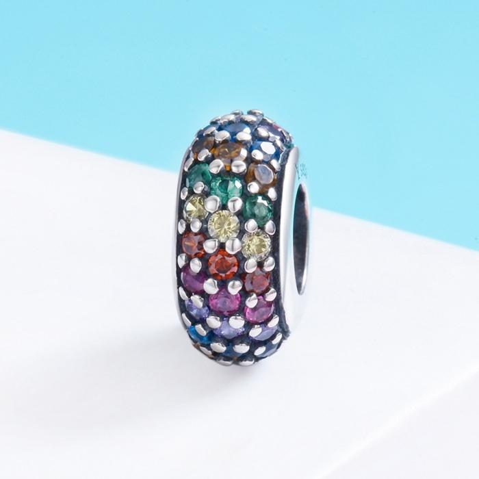 Charm argint 925 cu zirconii multicolore - Be Elegant PST0118 2