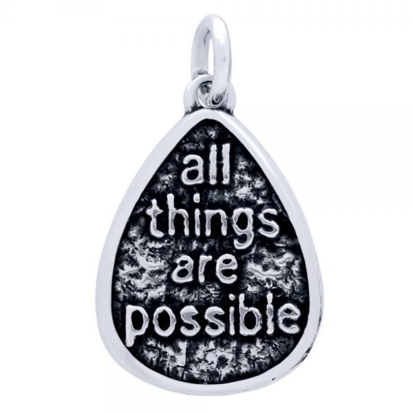 Pandant argint 925 cu doua fete I have a Dream si all things are possible PSX0601 0