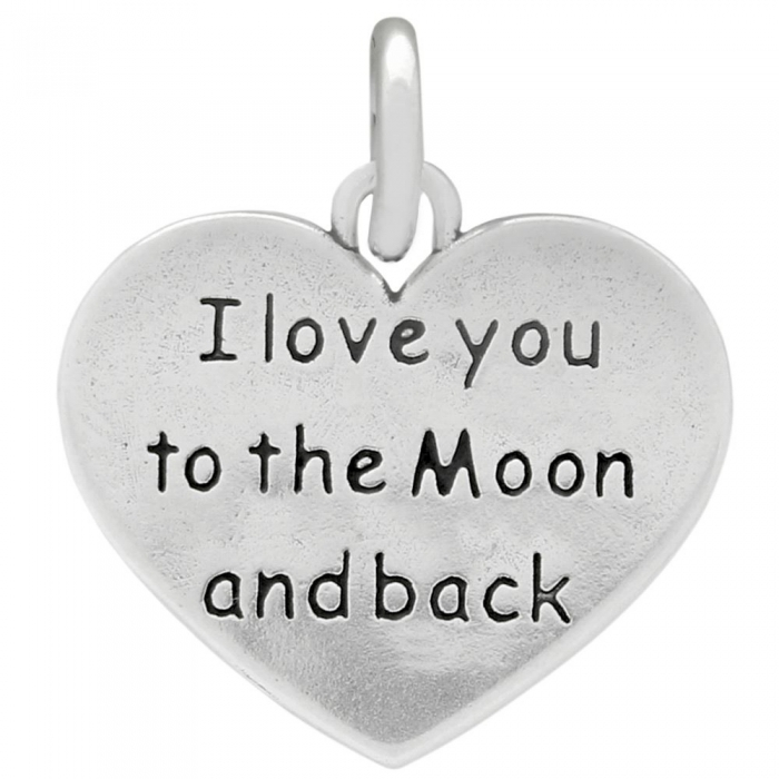 Pandant argint 925 cu doua fete I love you to the Moon and back PSX0633 - Be In Love 0