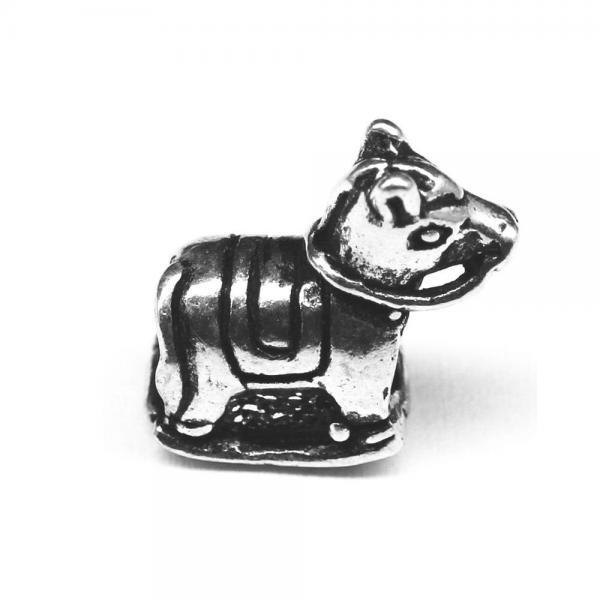 Pandant argint 925 calut pentru bratara tip charm 0