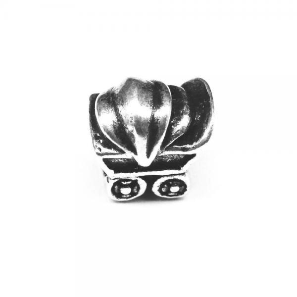 Pandant argint 925 carucior bebelusi pentru bratara tip charm 0