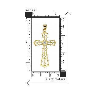 Pandant argint 925 cruce placat cu aur 2