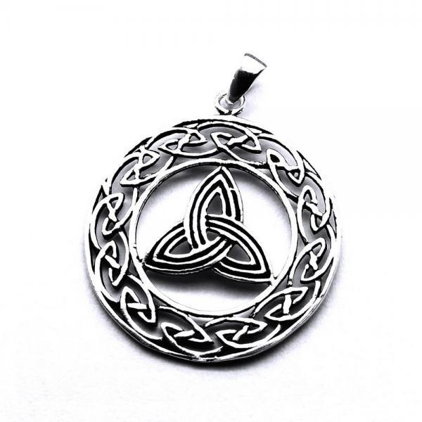 Pandant argint 925 cu motive celtice 0