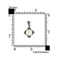 Pandant argint 925 in forma de floare cu marcasite si perla 2