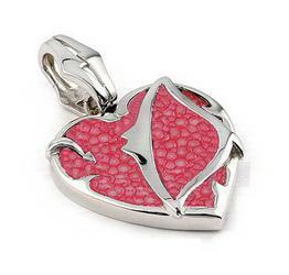 Pandant argint 925 inima inconjurata de pisica de mare - Be Nature [1]