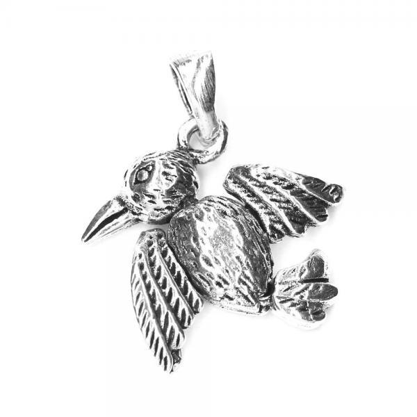Pandant argint 925 pasare pentru bratara tip charm 0